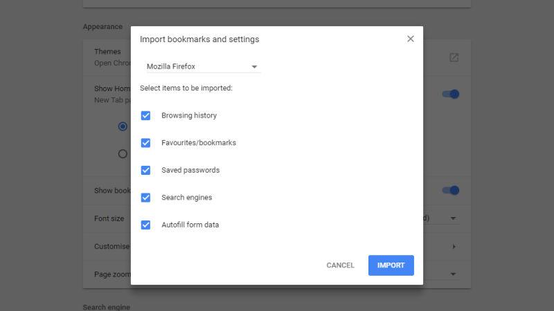 Switching to Google Chrome